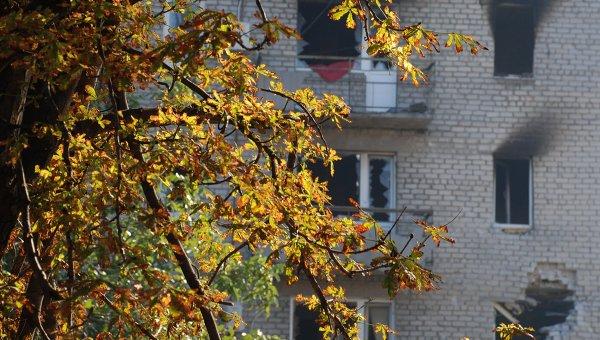Жилой дом в городе Иловайске Донецкой области. Архивное фото