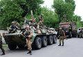Ополченцы Донецкой народной республики (ДНР) в Иловайске