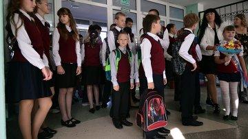 Дети беженцев с Украины в российских школах. Архивное фото