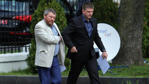 Представители ополчения на переговорах в Минске. Архивное фото