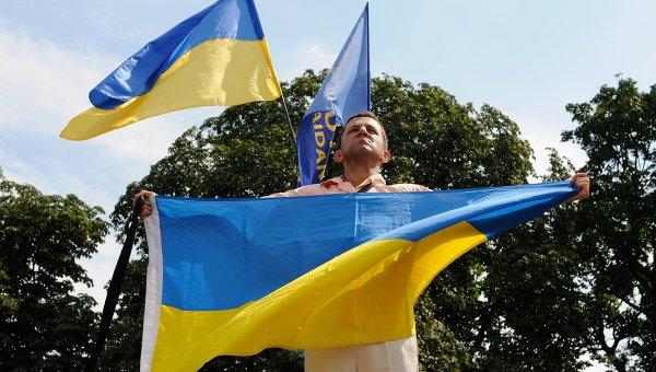 На митинге у здания Верховной Рады в Киеве. Архивное фото