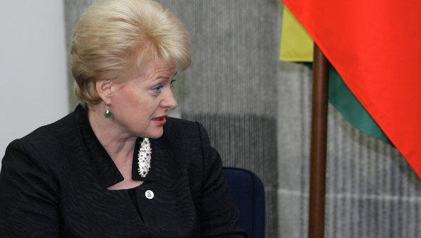 Президент Литвы Далия Грибаускайте. Архивное фото