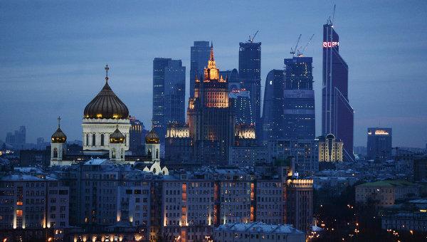 Вид на храм Христа Спасителя и ММДЦ Москва-Сити. Архивное фото