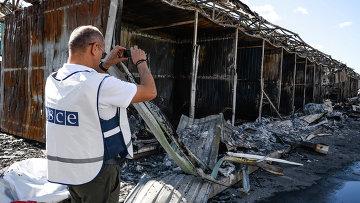 Представитель ОБСЕ фиксирует разрушения в Донецке, архивное фото