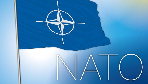Флаг NATO. Архивное фото