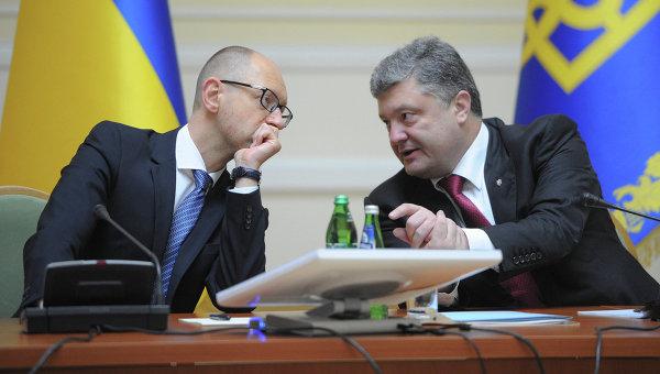 Арсений Яценюк и Петр Порошенко, архивное фото
