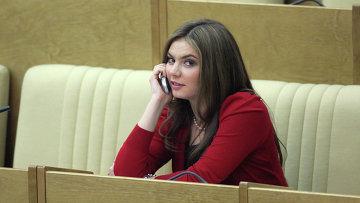 Алина Кабаева на заседании Госдумы РФ. Архив