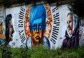 Граффити против войны на Украине появилось на подпорной стене во Владивостоке