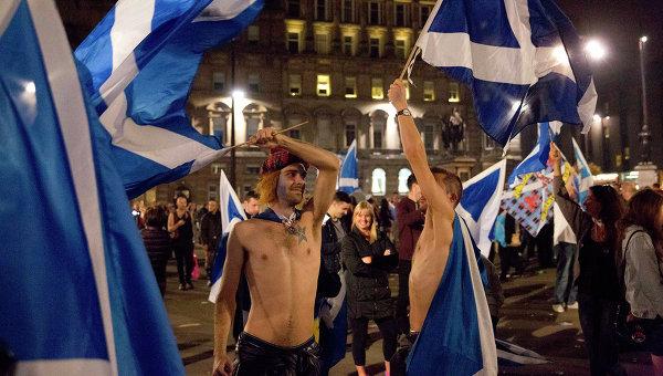 Сторонники независимости Шотландии. Архивное фото