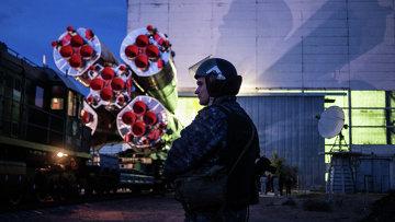 Вывоз космического корабля Союз ТМА-14М на старт