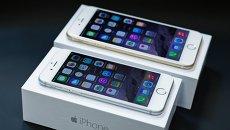 Cмартфонs iPhone 6 и iPhone 6 Plus. Архивное фото