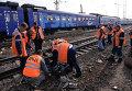 ДТП на железнодорожном переезде в Подмосковье