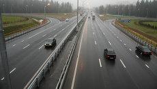 Реконструированный участок трассы М-3 Украина. Архивное фото
