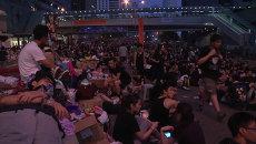 Тысячи протестующих вышли на акцию Occupy Central в Гонконге