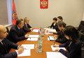 Виталий Мутко провел рабочую встречу с чрезвычайным и полномочным послом Японии Тикахито Харадой.