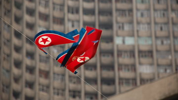 Флаг КНДР. Архивное фото