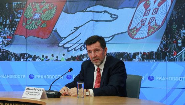 Чрезвычайный и полномочный посол Сербии в России доктор Славенко Терзич. Архивное фото