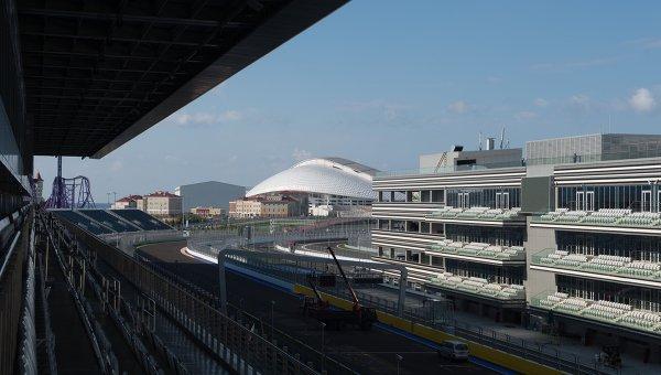 Подготовка к проведению российского Гран-при Формулы 1. Архивное фото