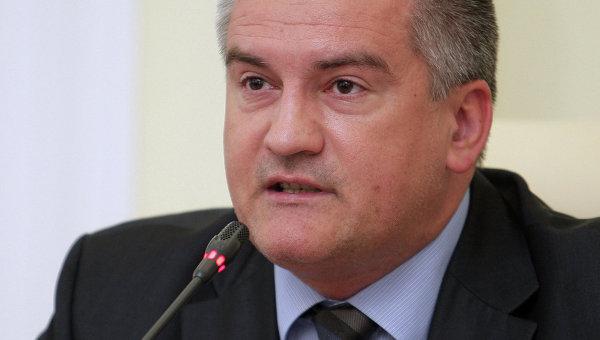 Глава правительства Республики Крым Сергей Аксенов. Архивное фото