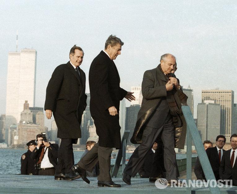 Пребывание Горбачева в США