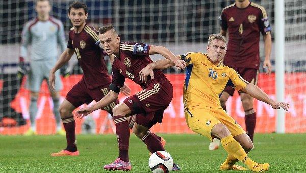 Футбол. Отборочный ЧЕ-2016. Матч Россия - Молдавия