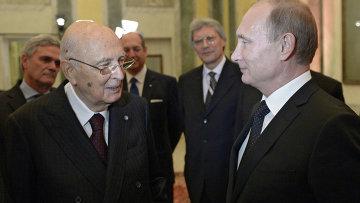Рабочий визит В.Путина в Италию