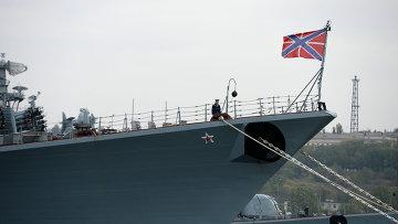 Боевые корабли флота РФ в Севастопольской бухте. Архивное фото