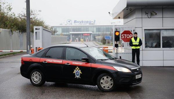 Автомобиль сотрудников Следственного комитета (СК) в аэропорту Внуково