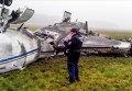 """На месте крушения легкомоторного самолета Falcon в аэропорту """"Внуково"""""""