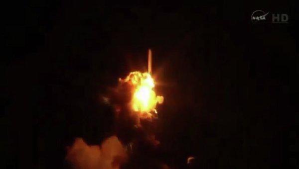 Взрыв ракеты-носителя Antares в США