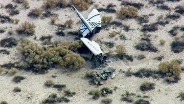 Суборбитальный корабль SpaceShipTwo потерпел крушение при испытании. Архивное фото.
