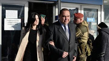 Глава Луганской Народной Республики Игорь Плотницкий после голосования на выборах главы ЛНР
