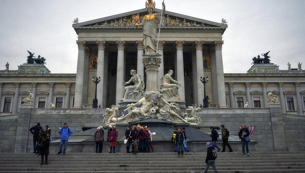 Здание австрийского парламента в Вене. Архивное фото
