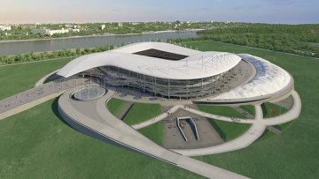 Макет будущего футбольного стадиона в Ростове-на-Дону. Архивное фото