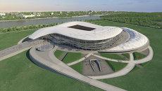 Макет будущего футбольного стадиона в Ростове-на-Дону