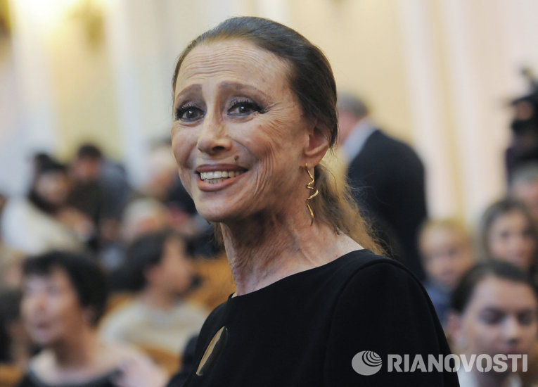 Балерина Майя Плисецкая на открытии IX Московского пасхального фестиваля