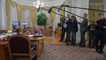 В.Путин провел рабочую встречу с Э.Памфиловой