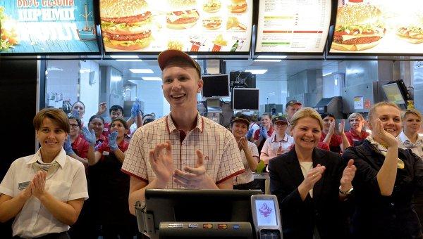 Ресторан McDonald's. Архивное фото