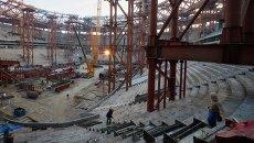 Строительство стадиона Зенит-Арена. Архивное фото.