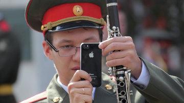 Музыкант военного оркестра. Архивное фото