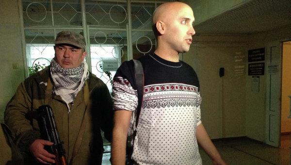 Английский журналист Грэм Филлипс в госпитале в Донецке