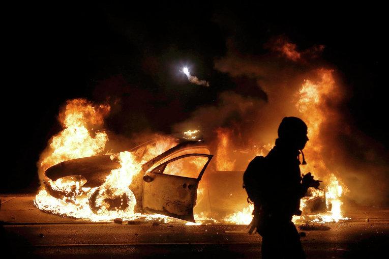 Беспорядки в городе Фергюсон, США