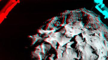 Трехмерное изображение кометы 67P/Чурюмова-Герасименко