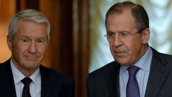 Встреча главы МИД РФ С.Лаврова и Генерального секретаря Совета Европы Т.Ягланда