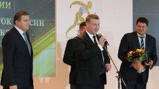 Председатель Комитета Государственной думы РФ по физической культуре, спорту и делам молодежи Игорь Ананских (слева)