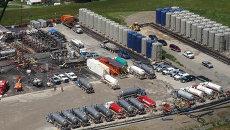 Предприятие по добыче сланцевого газа в Пенсильвании, США. Архивное фото