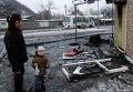 Последствия обстрела украинскими силовиками Донецка