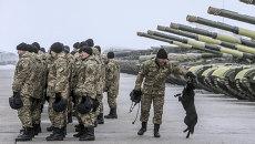 Военнослужащие украинской армии.Архивное фото.