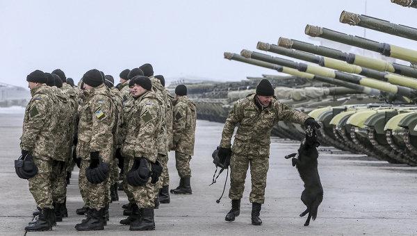 Военнослужащие украинской армии. Архивное фото