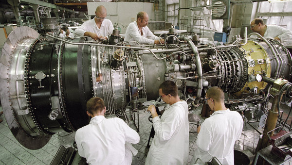 Сборочный цех ОАО Пермский моторный завод, в котором осуществляется серийное производство газотурбинных установок. Архивное фото